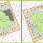 Vergleich des ursprünglichen Bebauungsplan-Entwurfs mit dem nun in Kraft getretenen.
