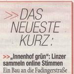"""Kurzmeldung in """"Heute"""" vom 19.7.2013, """"OberösterreichHeute"""", Seite 11."""