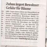 """Bericht in den OÖN vom 28.6., """"Linzer Nachrichten"""", Seite 34."""